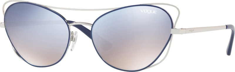 Vogue Cat-eye Sunglasses(Silver)