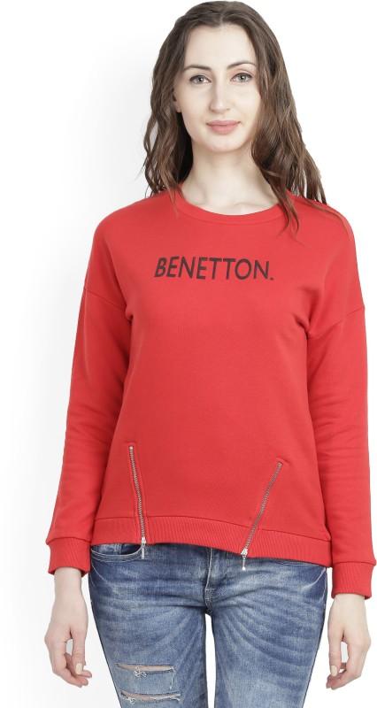 United Colors of Benetton Full Sleeve Solid Womens Sweatshirt