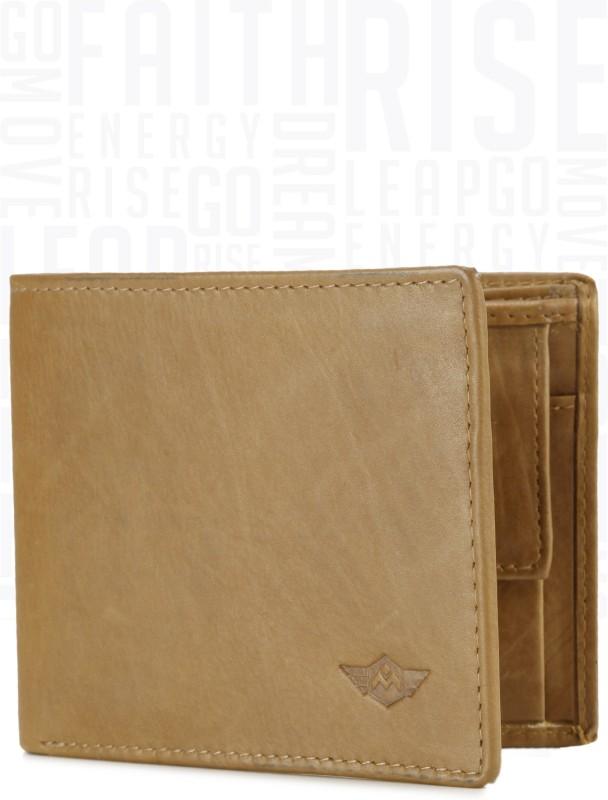 Metronaut Men Tan Genuine Leather Wallet(3 Card Slots)