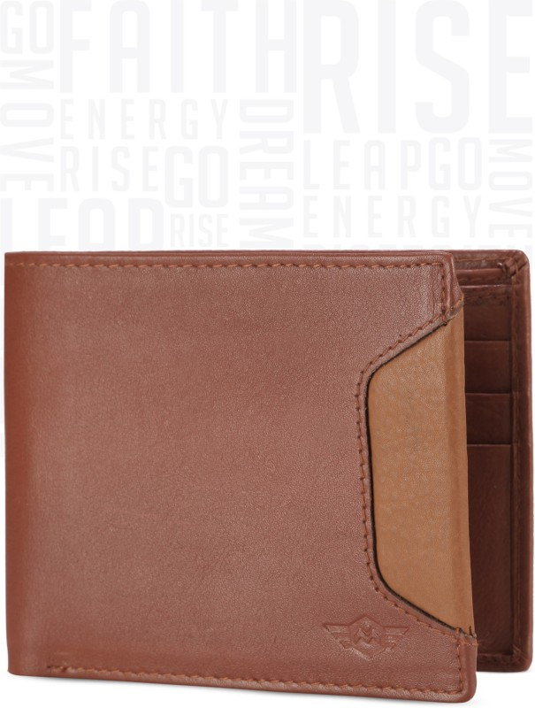 Metronaut Men Tan Genuine Leather Wallet(7 Card Slots)