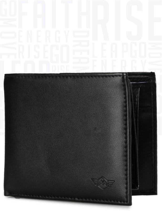 Metronaut Men Black Artificial Leather Wallet(5 Card Slots)