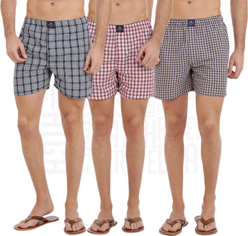 Metronaut Checkered Men Boxer(Pack of 3)