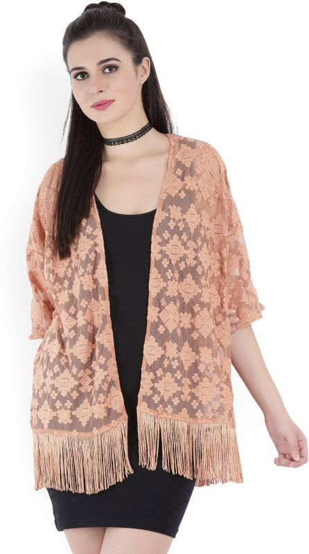 Forever 21 Womens No Closure Self Design Cardigan