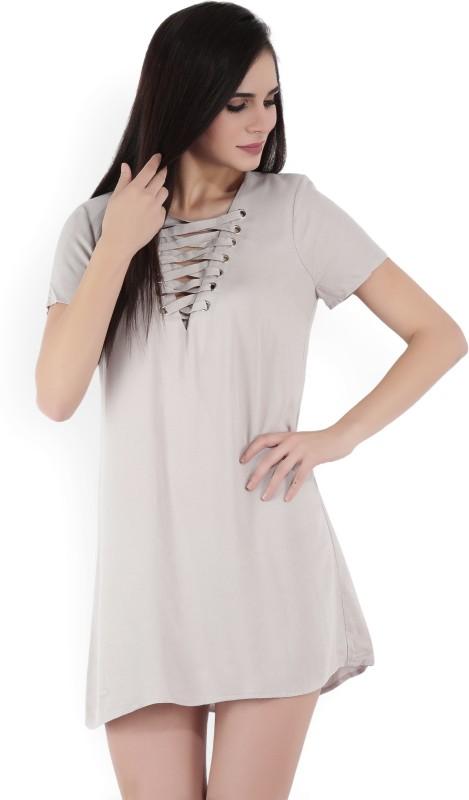 Forever 21 Womens Shift Beige Dress