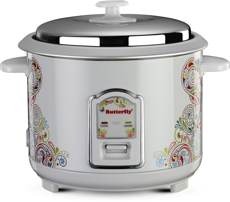 Butterfly Raaga Electric Rice Cooker(1.8 L, White)