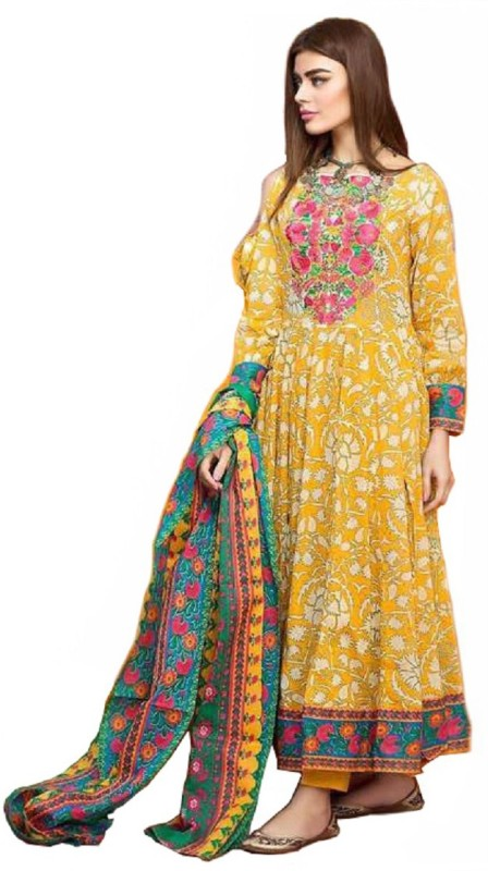 Madeesh Cotton Printed Salwar Suit Material(Un-stitched)
