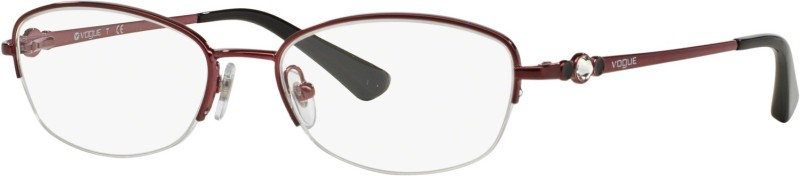 Vogue Half Rim Oval Frame(49 mm)