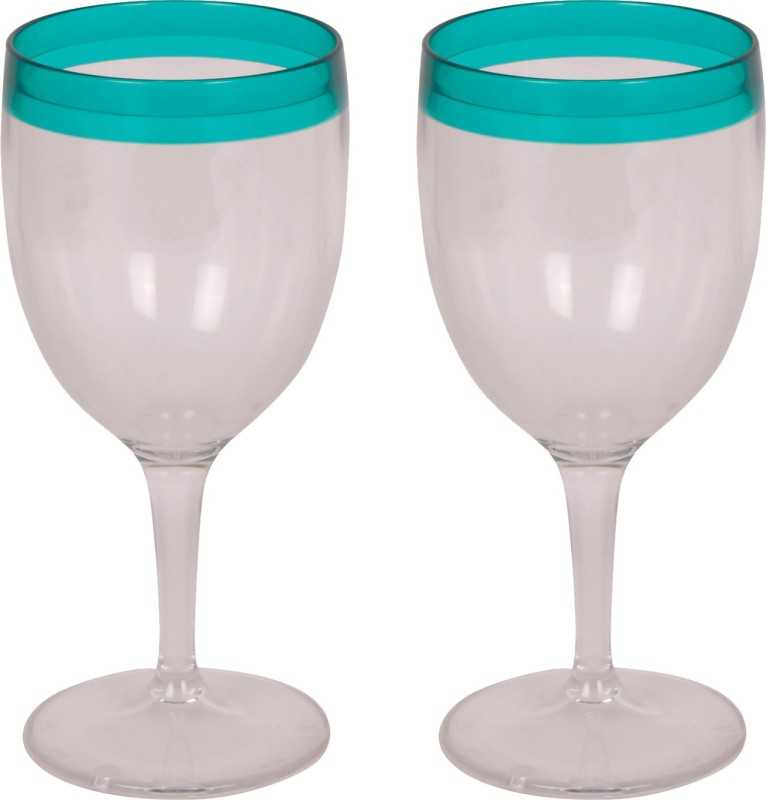 Tupperware Glass Set(300 ml, Blue, Pack of 2)