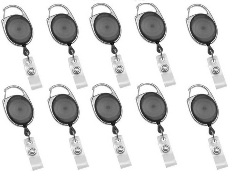 Art Craft Plastic ID Badge Reel, ID Badge Holder(Pack of 10)