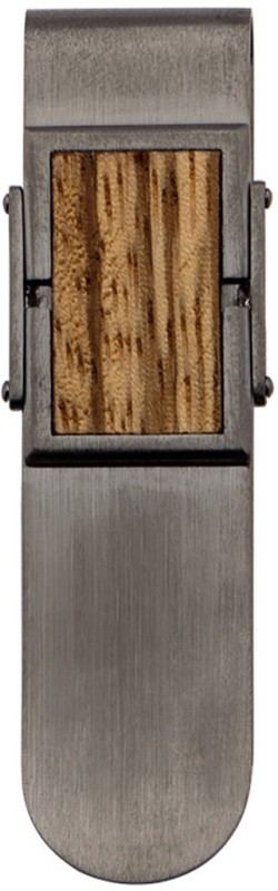 Inox Jewelry SSMC14458 Stainless Steel, Wood Money Clip(Jet Black)