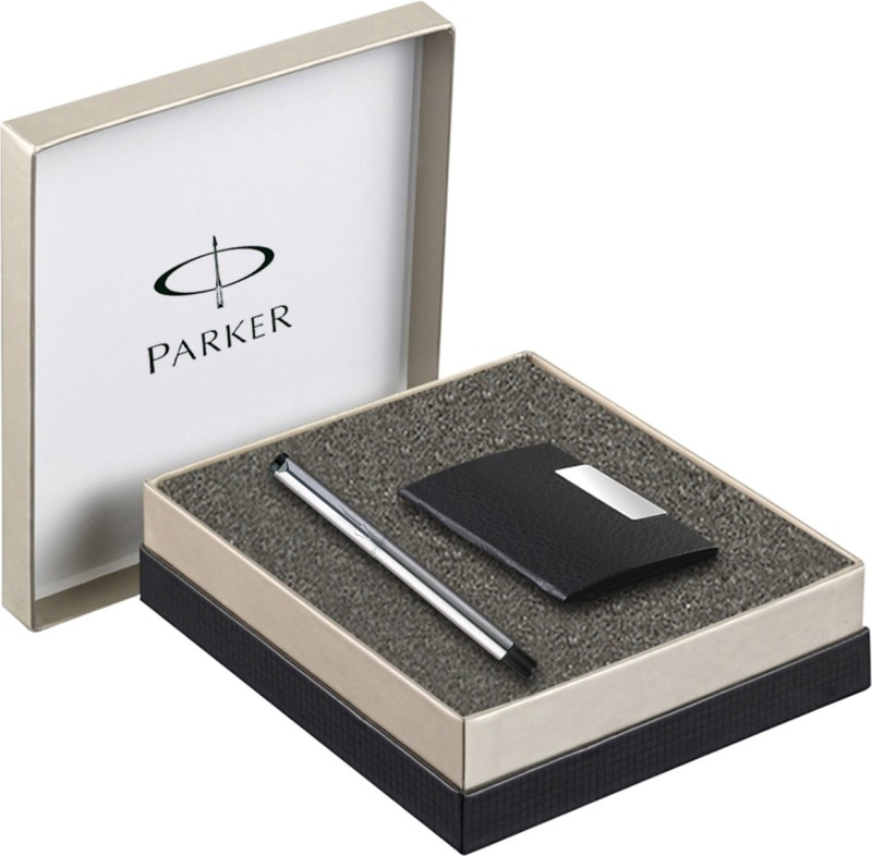 Parker� Vector Stainless Steel CT Roller Ball Pen with Card...