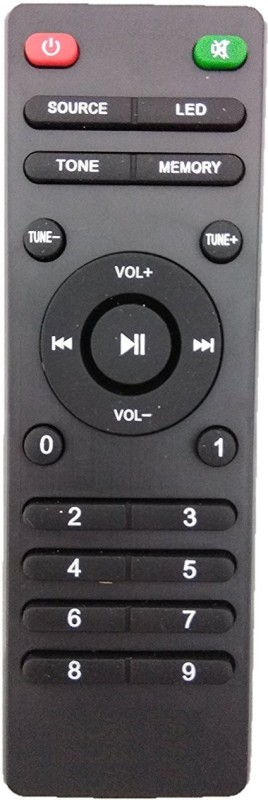 LipiWorld INTEX Home Theater System Compatible For INTEX Home Theater Remote Controller(Black)