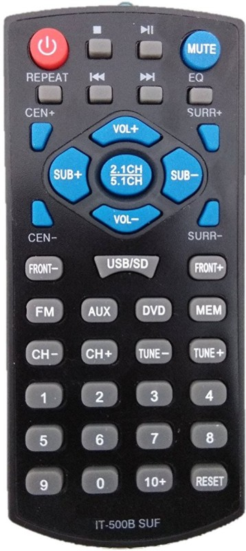 LipiWorld IT-500B SUF Home Theater System Compatible For INTEX Home Theater Remote Controller(Black)
