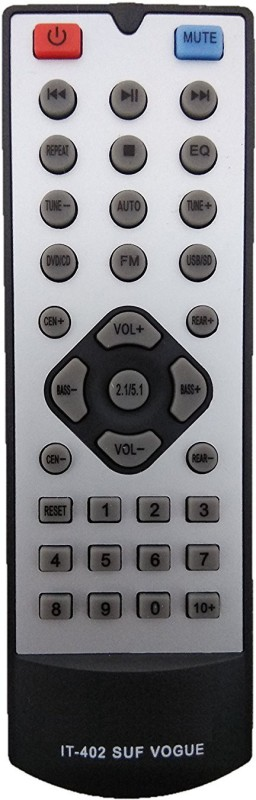 LipiWorld IT-402 SUF VOGUE Home Theater System Compatible For INTEX Home Theater Remote Controller(Black, Gray)