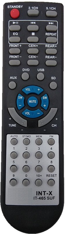 LipiWorld IT-465 SUF Home Theater System Compatible For INTEX Home Theater Remote Controller(Black)