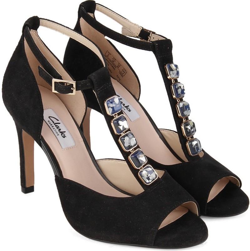 Clarks Women Black Sde Heels