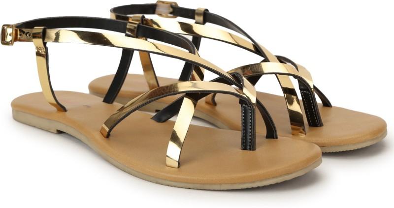 Jealous 21 Women Gold Flats