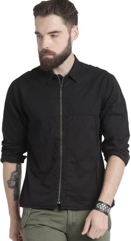 Roadster Men Solid Casual Black Shirt