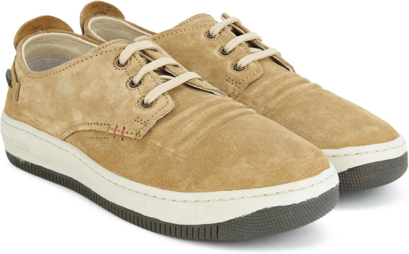 Woodland Leather Sneakers For Men(Tan)