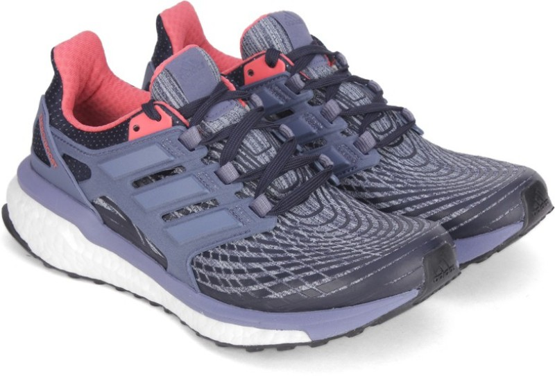 Adidas ENERGY BOOST W Running Shoes For Women(Black, Blue)