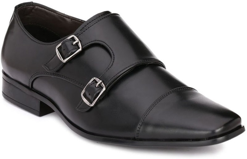 Afrojack Monk Strap For Men(Black)
