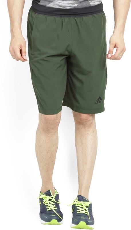 Adidas Solid Men's Dark Green Bermuda Shorts