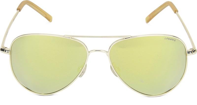 Polaroid Aviator Sunglasses(Golden)