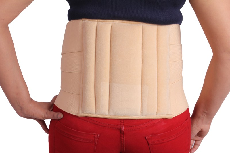 Kudize Lumbar Sacral (L.S.) Belt Brace Chronic Mild Lower Back Pain Osteoporosis Slip Disc Post Disketomy care Fracture Injuries Abdominal Belt Long working Travel Back Support Back Support (L, Beige)