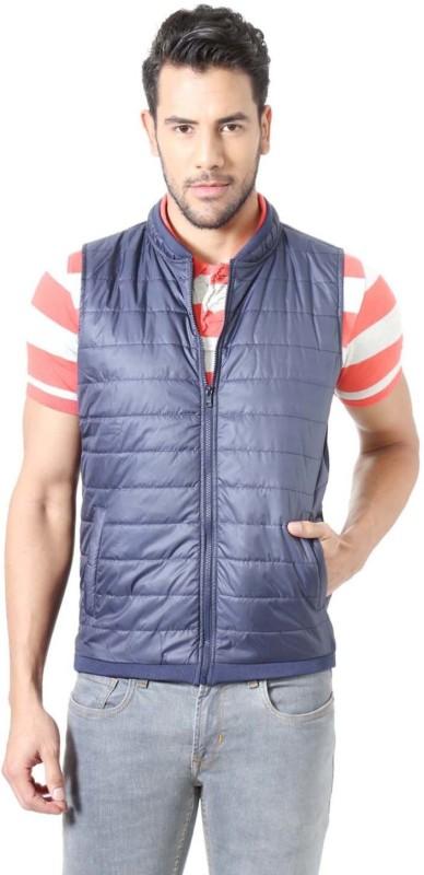 Peter England Sleeveless Solid Men Sweatshirt