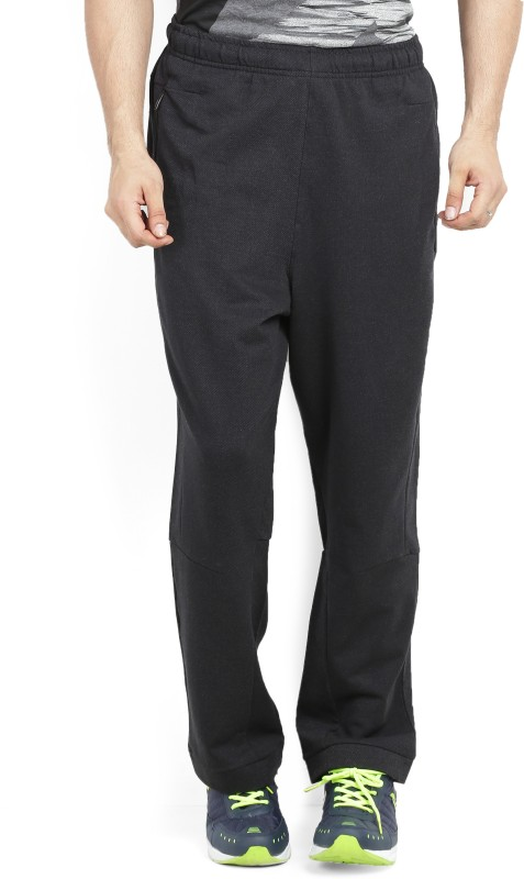Adidas Solid Men's Black Track Pants