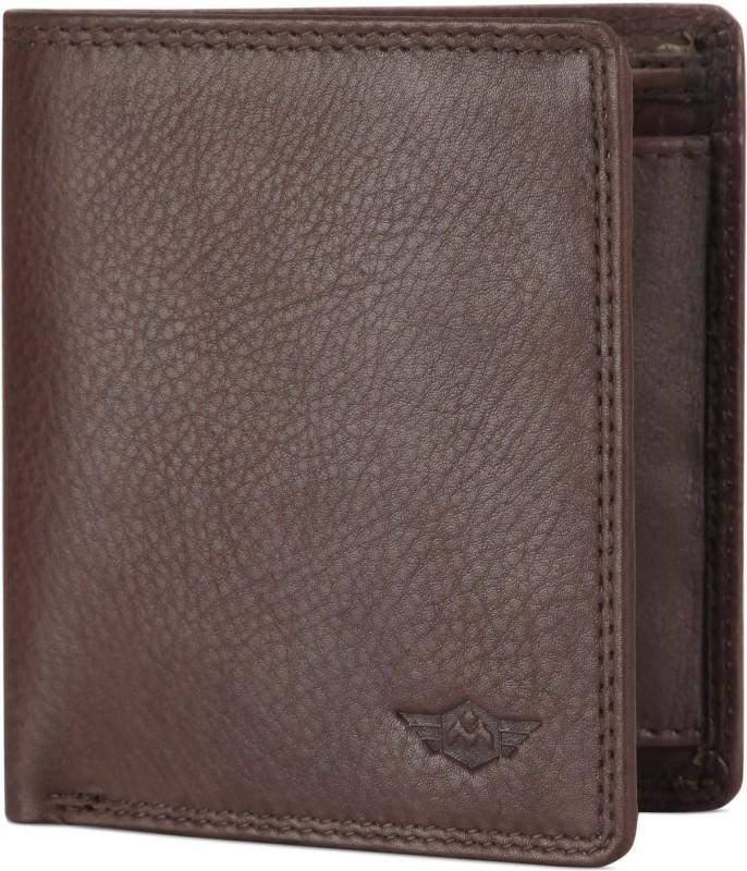 Metronaut Men Brown Genuine Leather Wallet(4 Card Slots)