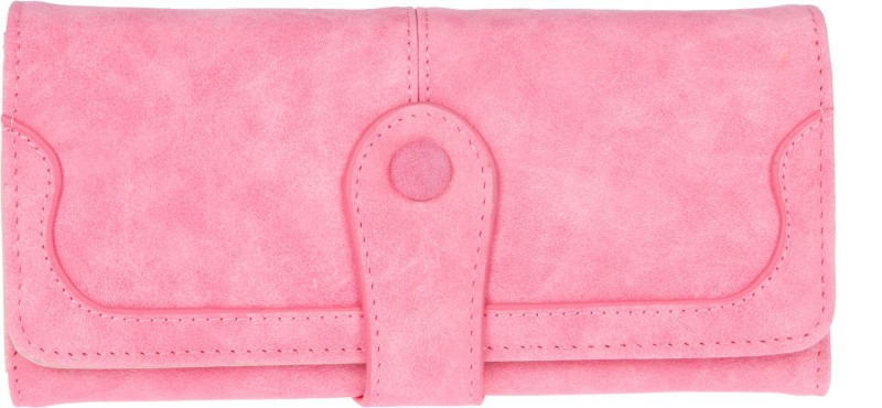 Fur Jaden Women Pink Artificial Leather Wallet(8 Card Slots)