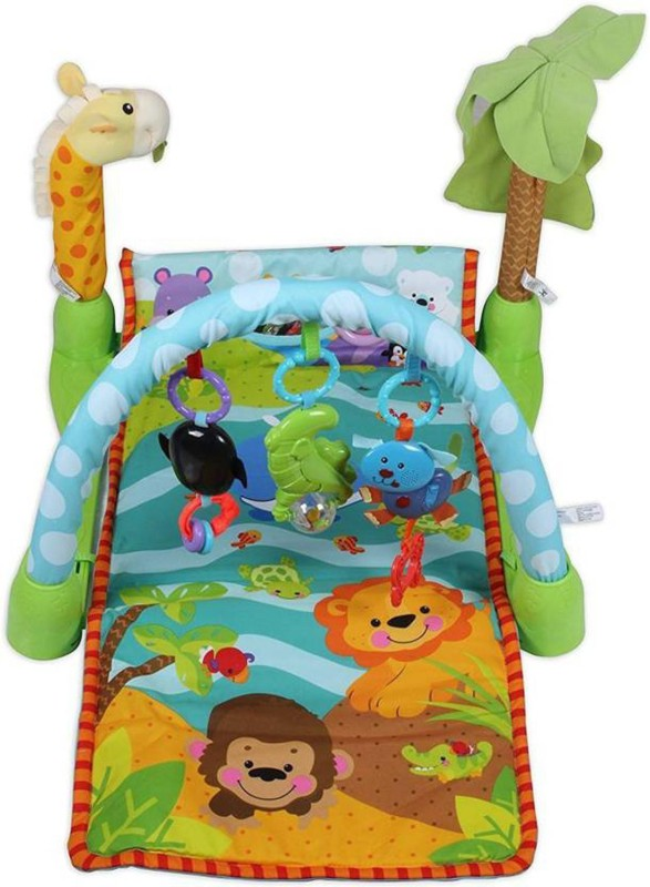 Tipi Tipi Tap Gym Activity Set Bed animal shape and toys Baby Gym Bed Animal(Plastic, Multicolor)