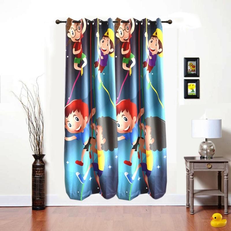 ShopyBucket Cartoon Printed_6 Curtain Fabric(Multicolor, 2.13 m)