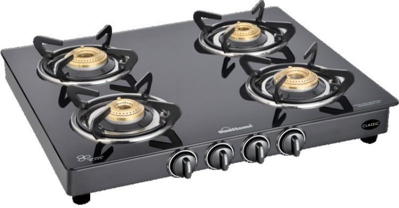 Sunflame Classic 4B BK mannual Glass Manual Gas Stove(4 Burners)