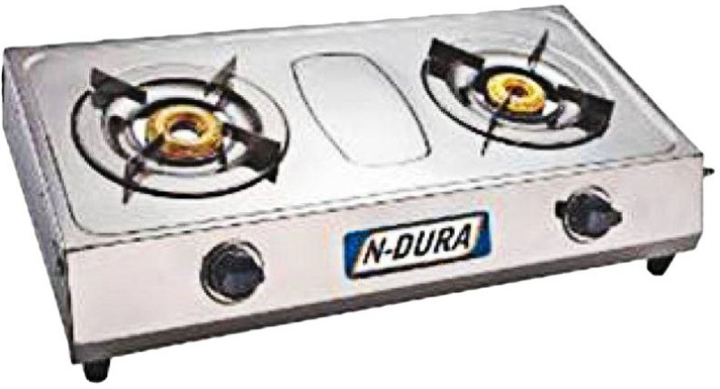 ndura Stainless Steel Manual Gas Stove(2 Burners)