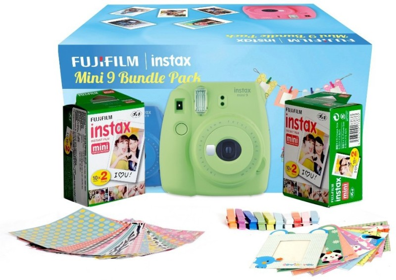 Fujifilm Instax Camera Mini�9�Bundle�Pack Instant Camera(Green)