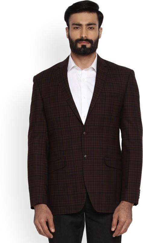 Park Avenue Full Sleeve Checkered Men's Jacket