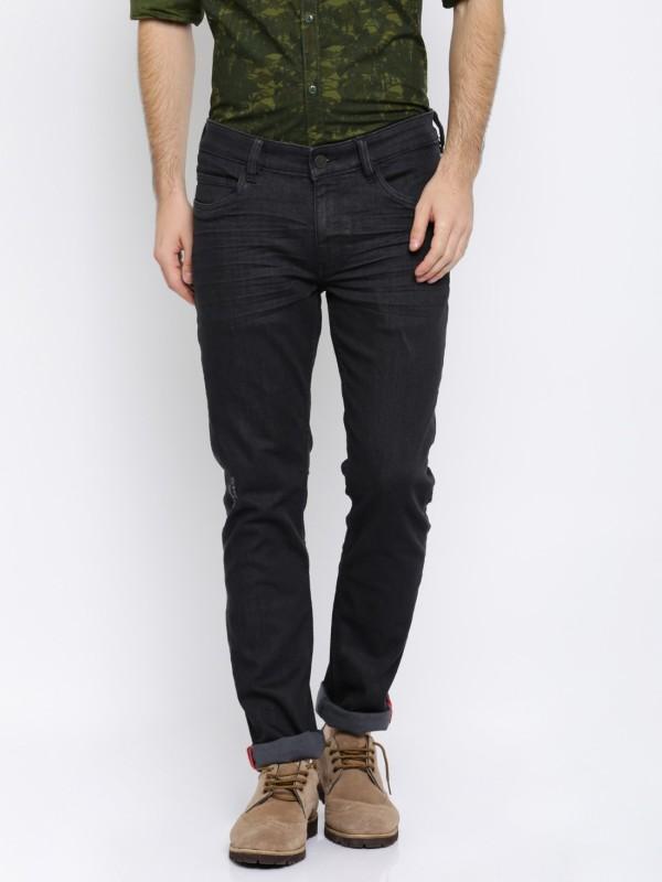 Arrow Sport Slim Mens Black Jeans