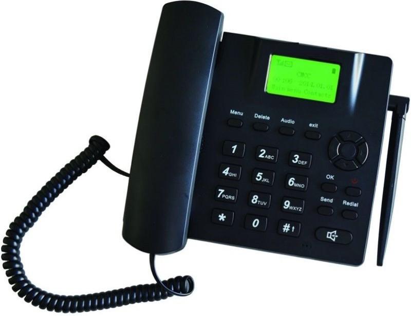 Magic Micotel-6188-GSM SIM Cordless Landline Phone(Black)