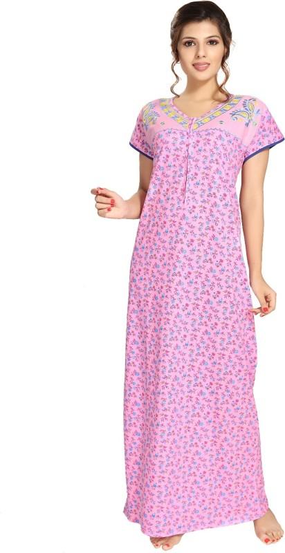 9shines Label Women Maternity/Nursing Nighty(Pink)