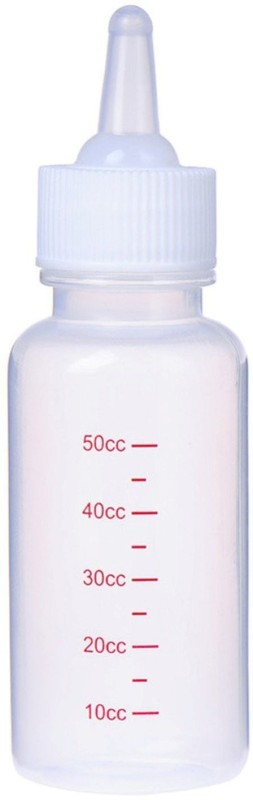 SRI High Quality 50ml Plastic Pet Small Dog Puppy Cat Kitten Milk Nursing Care Feeding Bottle Set Pet Nursing Kit