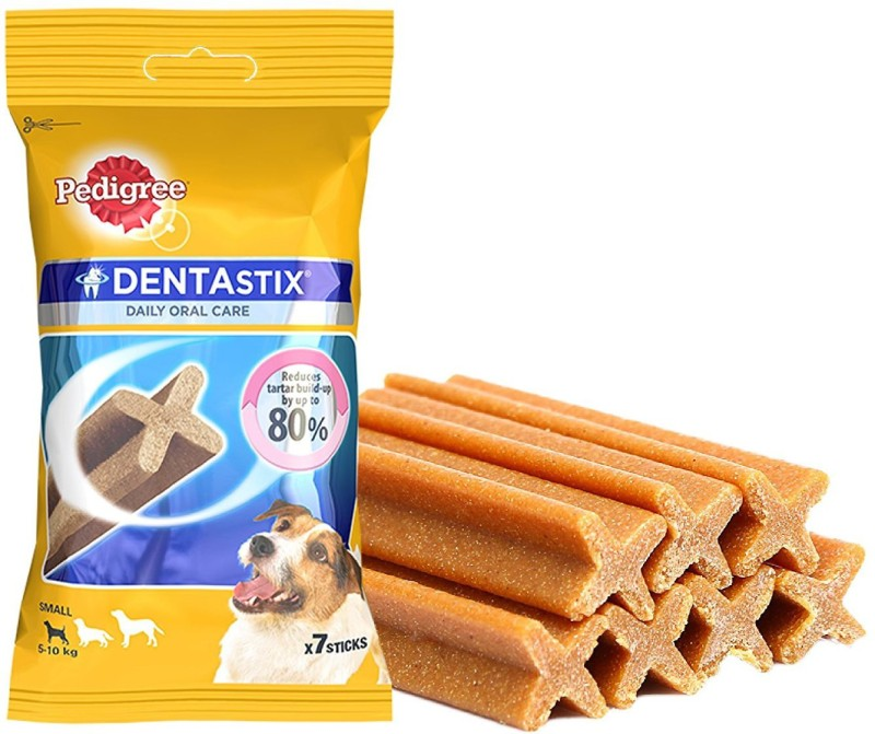 Pedigree Daily Oral care Denta Stix Small Dog Treat For Fresh Breath (7 in 1) Pack of 5) By Pawsitively Pet Care Chicken Dog Treat(450 g, Pack of 5)