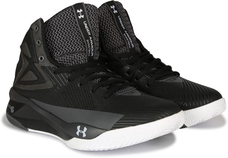 Under Armour UA ROCKET Basketball Shoes For Men(Black)