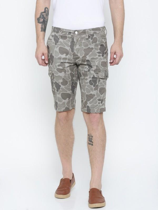 Lee Solid Mens Grey Cargo Shorts