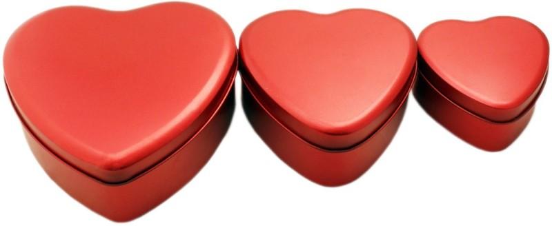 Tootpado Heart Shape Storage Box(Red)