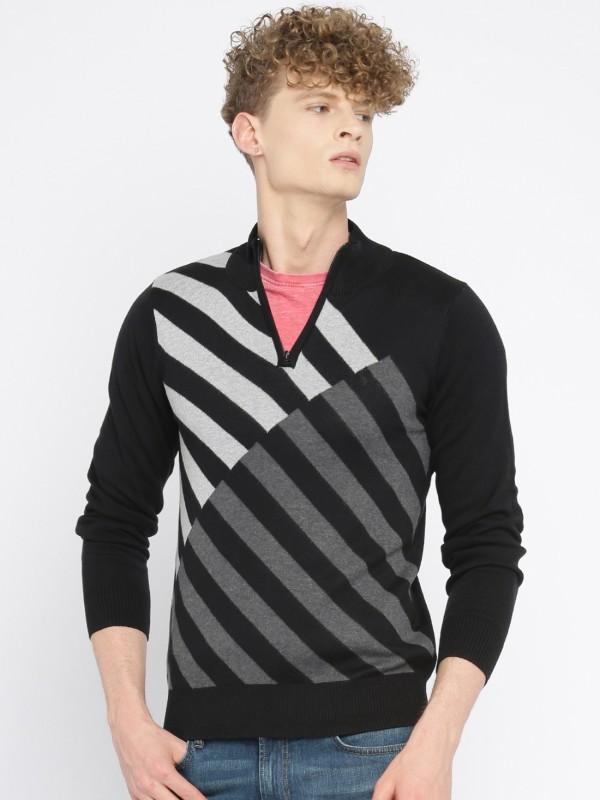 Allen Solly Self Design Casual Mens Sweater