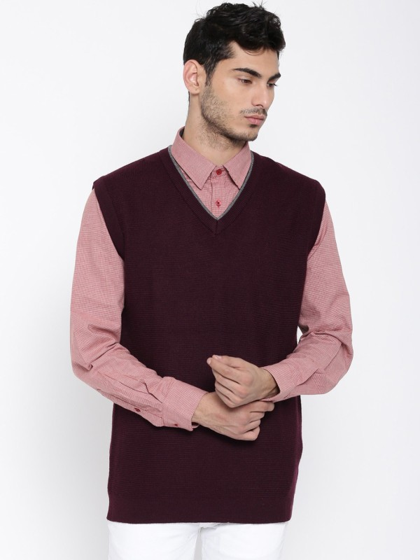 Wills Lifestyle Sleeveless Men Sweatshirt