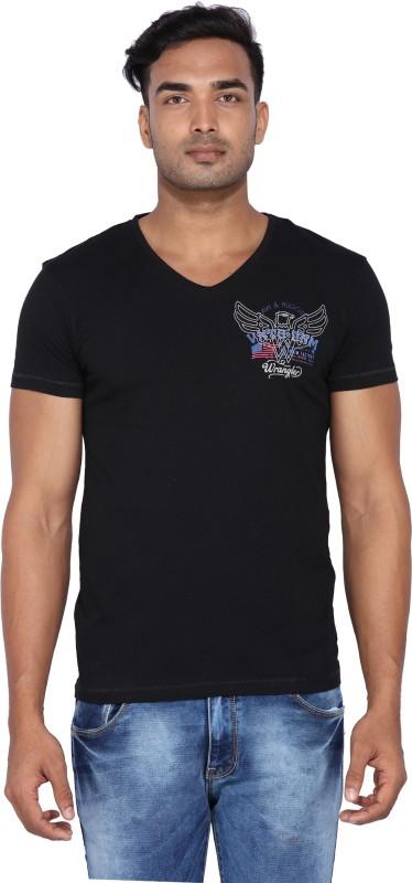 Wrangler Solid Mens Polo Neck T-Shirt