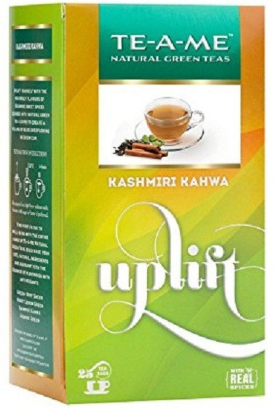 TE-A-ME Kashmiri Kahwa Green Tea Bag Herbs Green Tea Bags(25 Bags, Box)